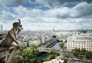 Gargoyle on Notre Dame Cathedral, Paris, France