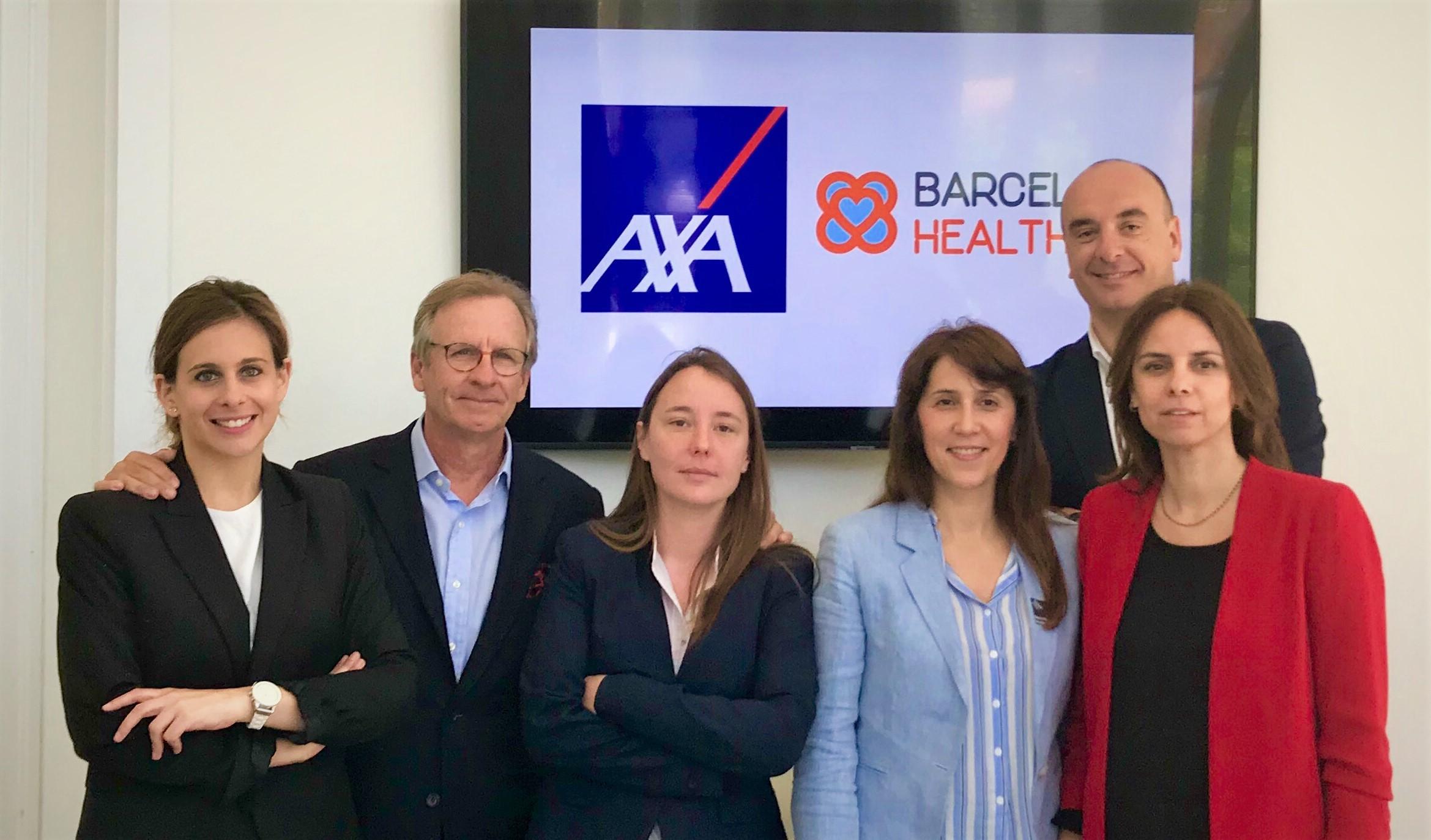 Equipo de AXA con el de BHH tras la firma del convenio